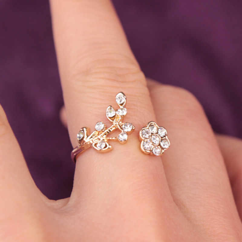 1 Piece Crystal Flower Ring Clearance Sale Rings Wholesale Bought No Regrets