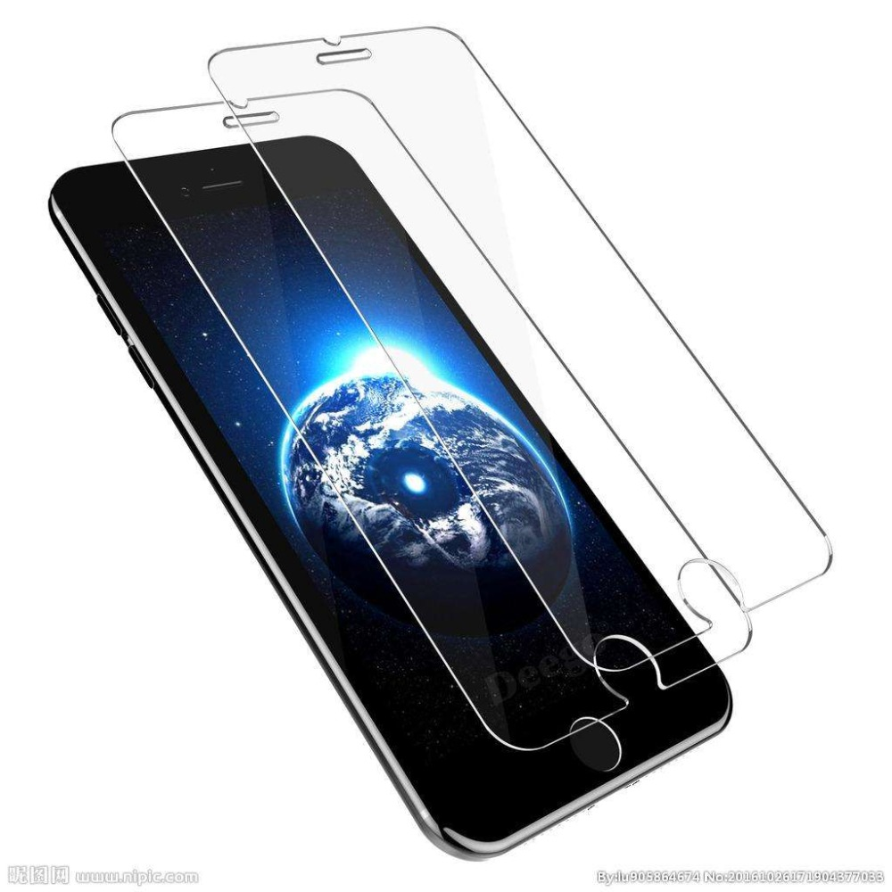 2pcs for iPhone 8 screen protector for iPhone X 7 8 6S plus 6 5 5s 5c SE tempered glass case friendly bubble free accessaries