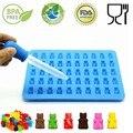 2018 herramientas de cocina molde 1 Unidades 50 cavidad Gummy Bear molde fabricante bandeja de hielo moldes de jalea Gummy oso moldes D0192