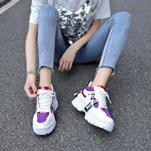Image 5 - Lucyever 2019 nowa wiosna kobiety obuwie damskie trwała platforma zasznurować futro obuwie studenckie buty szkolne Zapotos Mujer