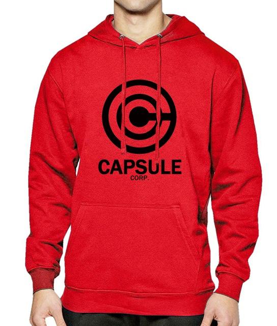 Capsule Corp Logo Hoodie (Red)