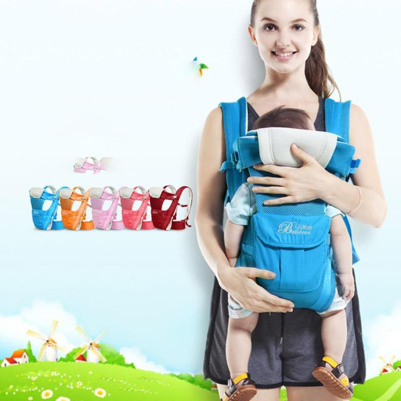 Ergonomic Baby Carrier infant sling backpack 4 in 1 newborn baby carry wrap kangaroo bag Breathable Toddler Sling Pouch Wrap R4 free shipping 4 in 1 soft structured baby carrier 15 colors baby carrier 15 kinds baby sling baby pouch