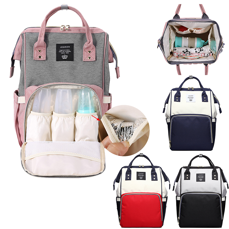 LEQUEEN Maternity Mummy Diaper Bags Large Capacity Nappy Bag Waterproof Women Travel Backpack Easy Storage Mother Nursing Bag
