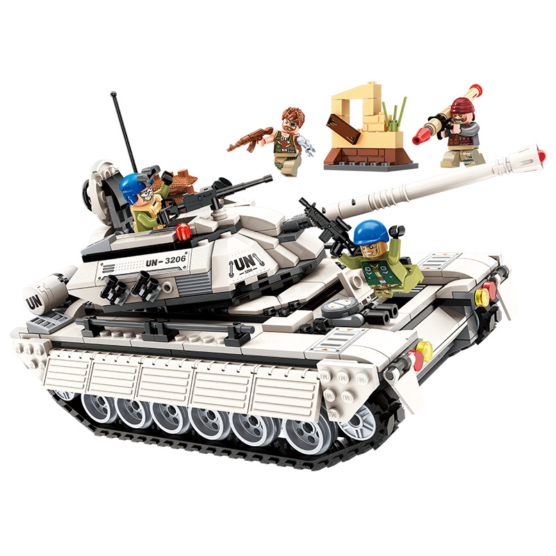 430pcs Children s educational building blocks toy Compatible city Tank Corps attack military series DIY figures
