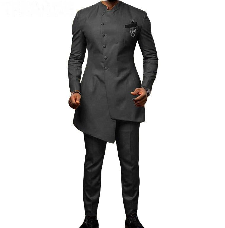 2019 New Men Wedding Suits With Pants 2 Pieces Suits For Men Tuxedo Slim Fit Prom Costume Homme Groom Blazer (Jacket+Pants)