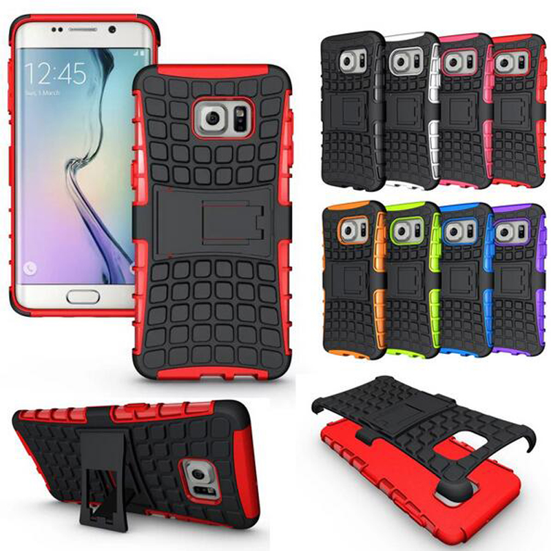 New For Galaxy S7 Case! Silicone Plastic Case Unique Capinha Grip Rugged For Samsung Galaxy S7 Stand Case Cover Phone Housing