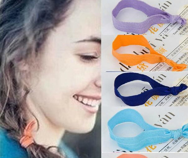 50Pcs/Lot Colorful Hair Ribbons For Braids Girls Elastic Hair Bands For Womens Hair ponytail Diy Hair Accessories Headdress