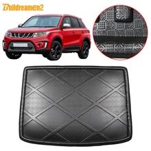 Buildreamen2 For Suzuki Vitara Car Accessories Rear Trunk Mat Tail Cargo Pad Tray Boot Liner Floor Carpet 2015 2016 2017 2018