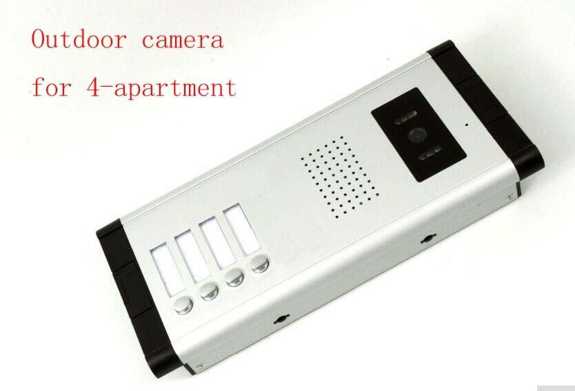 4 Units Apartment Video Door Phone Camera Intercom IR Night Vision Doorbell for 4 Units Apartment Suitable 4-Stories Building my apartment