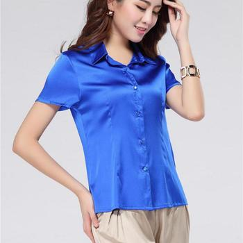 Plus Size Broadcloth Short None Solid Turn-down Collar Regular Blouses Shirts Blouses Women Shirts 4xl Women Blouses 1/4 Sleeve фото