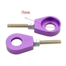 GOOFIT 15mm-Performance of Chain Adjuster Tools Set for Dirt bike black purple color G044-705
