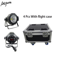 4 stücke LED Par COB Licht 100W High Power Aluminium DJ DMX Led Strahl Waschen Strobe Wirkung Bühne Licht mit flug fall
