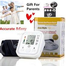 Digital de Pulso Monitores de Presión Arterial de Brazo Monitor de Presión Arterial bp tonómetro de atención médica Portátil metros esfigmomanómetro