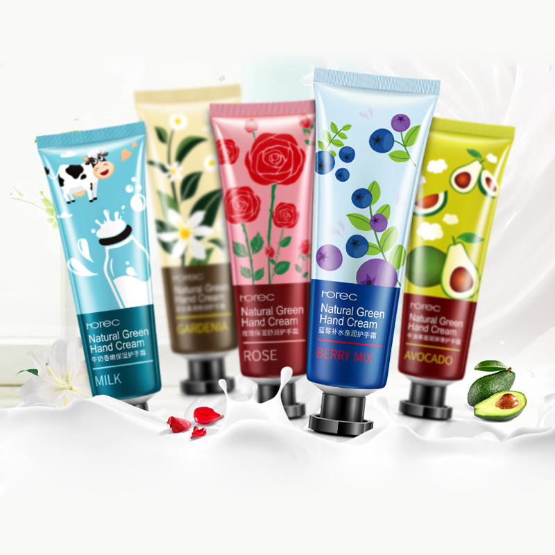 5Pcs lot Plant Extract Fragrance Hand font b Cream b font Set Moisturizing Hydra Moisturizing Nourishing