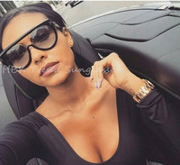 Fashion Clear Flat Top Quality Hot Square Sunglasses Men Women Luxury Brand Design Lady Sun Glasses