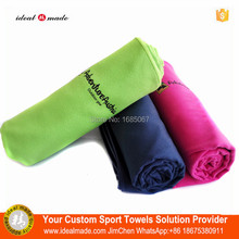 Sports Towel 100pcs/lot Microfiber 70x130cm Larger Size Travel Jogger Cloth With Bag Camping Swim Gym Washcloth