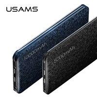 Power Bank For Xiaomi Mi USAMS Mosaic Ultra Slim 5000 10000mAh Powerbank For IPhone 4 5