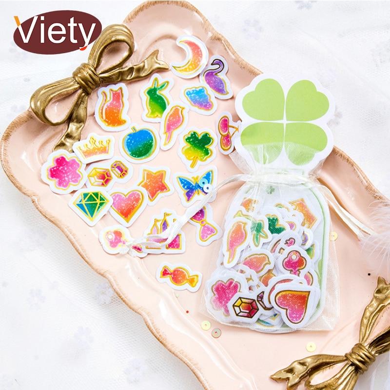 100 pcs/lot cartoon heart star mini paper sticker DIY diary decoration sticker for planner album scrapbooking kawaii stationery