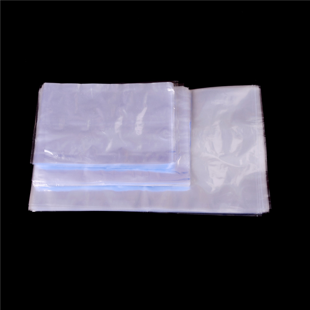 New 100Pcs Heat Seal Pouch Clear Cosmetics Packaging Polybag Film Storage Bag Plastic PVC Heat Shrink Open Top(China)