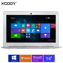 XGODY I2000 14 pulgadas Windows 10 Ordenador Portátil 2 GB RAM 32 GB rom intel atom z3735f 1.8 ghz ordenador portátil wifi otg hdmi 10000 mAh