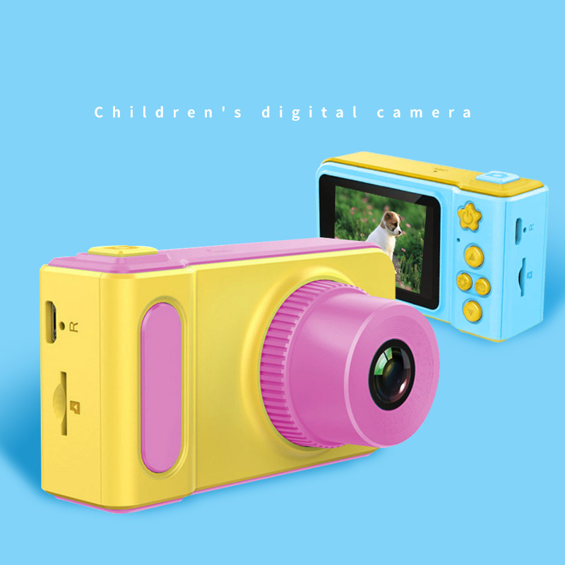 Mini Kids Digital Camera Toy Cute Camcorder Rechargeable Camera With 2 Inch Display Screen Children Educational Toy Outdoor Play