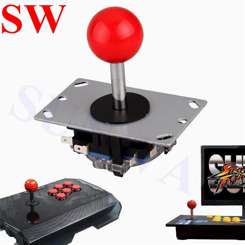 4//8 Way LED Colorful Illuminated Arcade Joystick PC Fighting Stick Parts Game