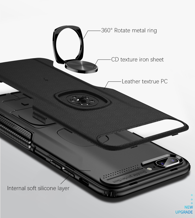 Luxury Leather skin Shockproof phone case For iPhone 7 8 6 6s plus back cover For iphone XR XS max cases with magnet ring holder (4)