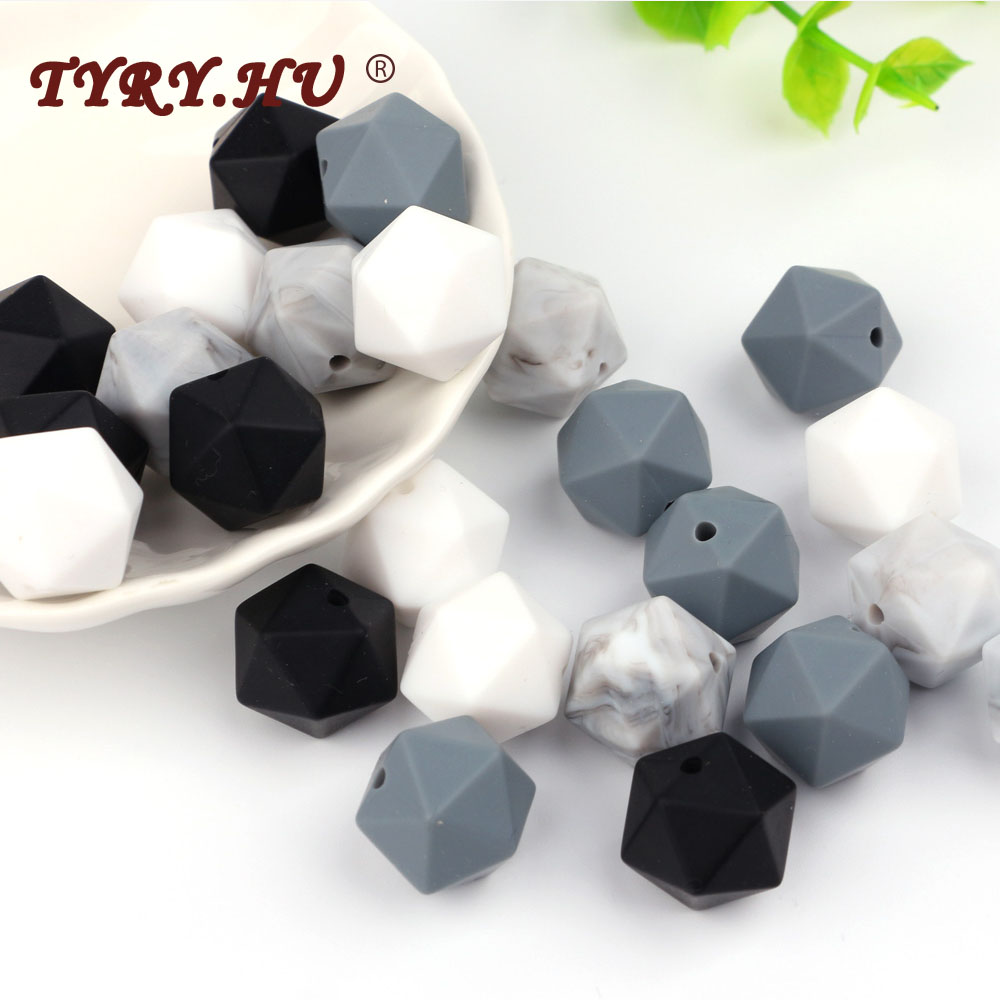 TYRY.HU 100pcs 17mm Icosahedron Silicone Loose Bead BPA Free 100% Food Grade Silicone Icosahedron Beads Teething Baby Chew Beads-in Baby Teethers from Mother & Kids on AliExpress - 11.11_Double 11_Singles' Day 1