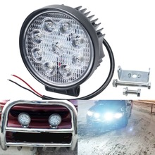 цена на 4.5Inch LED Work Light Offroad LED Light UAZ 4WD 4X4 ATV SUV 27W Beam Car Auto Truck Tractor Boat Trailer Driving Light 12V Lamp