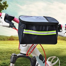 20 Inch Large Capacity Polyester Bike Bicycle Front Basket Durable Waterproof Tube Handlebar Bag Outdoor Sport Accessories