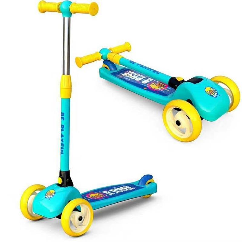 Nouveaux Enfants de scooter pour 1-3-6 ans bébé marcheur pliable enfants enfants équilibre de voiture unique pied voiture glissante