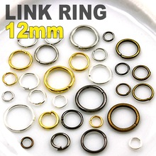 12mm 130pcs Open Jump Split Ring Link Silver Gold Rhodium Black Bronze loop for DIY necklace bracelet Jewelry Findings Connector