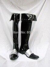 Castlevania Леон Belmont Черный Высокой Загрузки Косплей Обувь Сапоги Для Мужчин Мужчин На Заказ Бесплатная Доставка