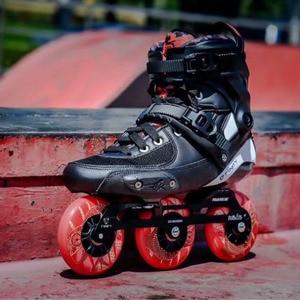 Image 5 - 2019 Original Powerslide TAU TRINITY 3*84/90mm Carbon Fiber Speed Inline Skates Adult Roller Skating Shoes Free Skating Patines