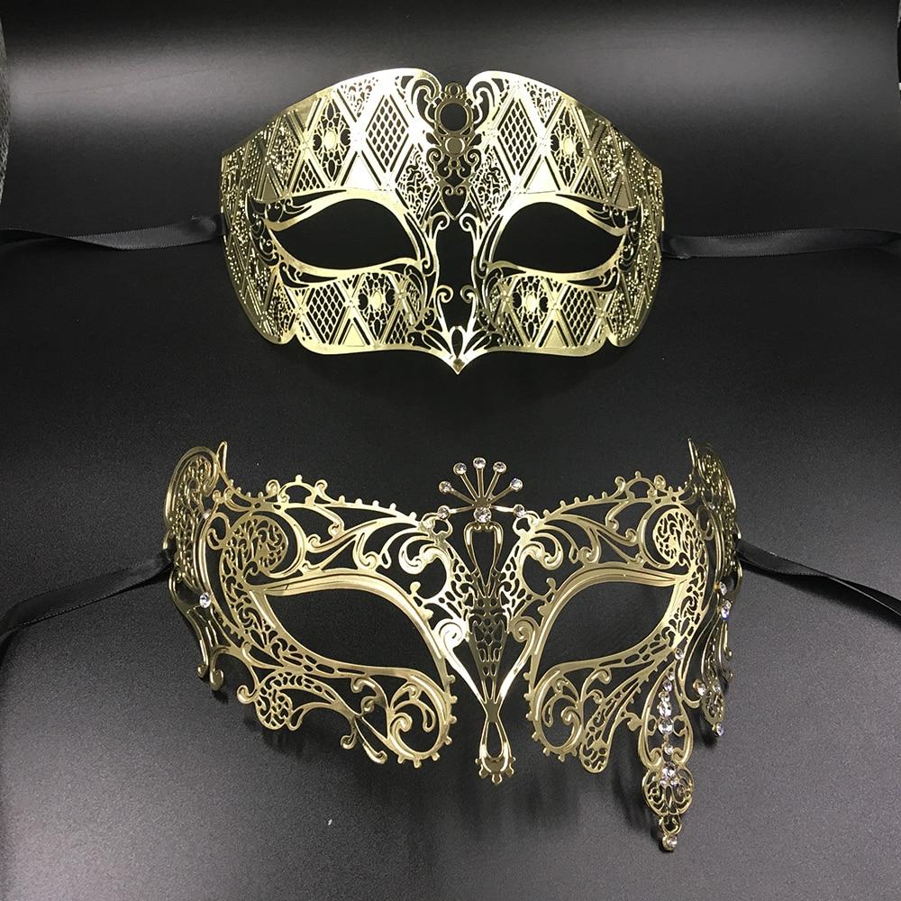 Silver Metal Filigree Men Women Venetian Masquerade Ball