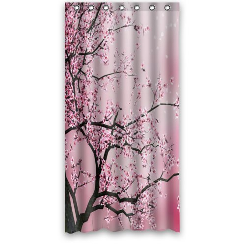 Beautiful Cherry Blossom TreeJapan Art 100 Polyester Shower Curtain 36 Wide X 72 Long In Curtains From Home Garden On