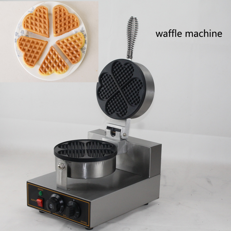 Hot Sale Industrial Commercial single head Waffle Maker Machine round Waffle Maker Stainless Steel Waffle Iron MakerHot Sale Industrial Commercial single head Waffle Maker Machine round Waffle Maker Stainless Steel Waffle Iron Maker