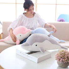 50cm Soft Dolphin Plush Toys Dolls Stuffed Down Cotton Animal Pillow Kawaii Office Nap Pillow Kids Toy Christmas Gift for Girls(China)