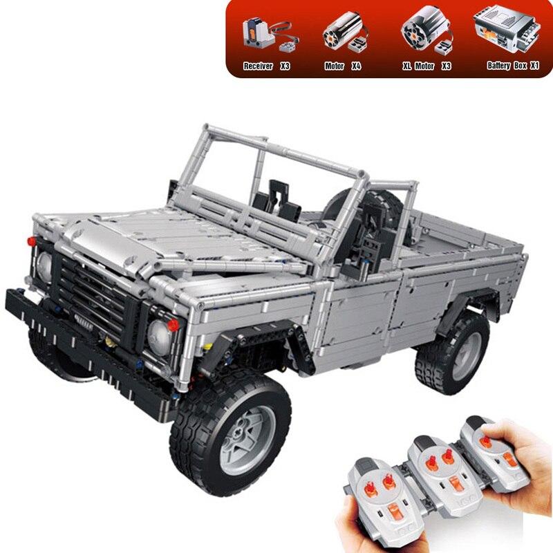 Lepine 23003 3643Pcs Technic Series MOC Remote-Control Wild Off-road Vehicles Model Building Blocks Toys Compatible Legoe Bricks lepine model