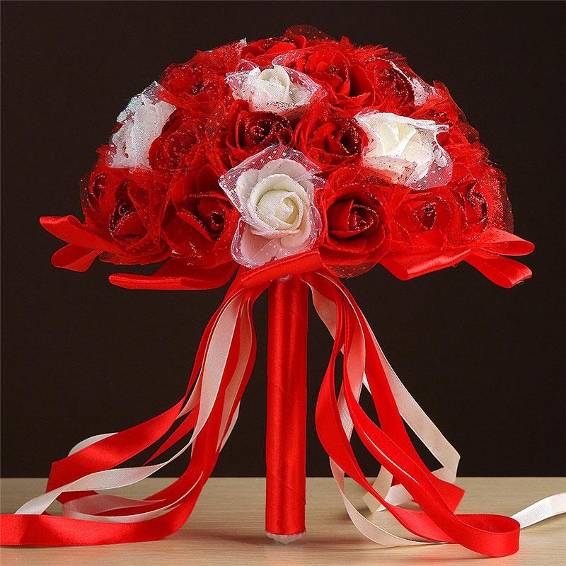 Wedding Bouquet Supplies Romantic Fashion Wedding Party Props Bridal Wedding Bouquet Colorful Wedding Bouquet