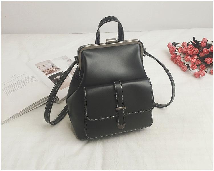 HTB1mTgWnbYI8KJjy0Faq6zAiVXap LEFTSIDE Brand 2018 Retro Hasp Back Pack Bags PU Leather Backpack Women School Bags For Teenagers Girls Luxury Small Backpacks