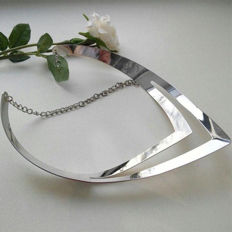 LZHLQ Geometrische holle metalen draaimomenten Dames trendy - Mode-sieraden - Foto 5