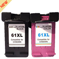 2pk for HP 61XL 61 Remanufactured Ink Cartridge BK &TRICOLOR for HP Deskjet 1000 1050 1055 2000 2050 2512 3000 J110a J210a J310a