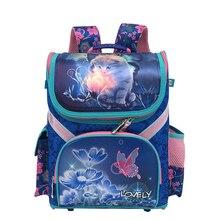 Марка школьный Класс 1-3-5 принцесса девушка рюкзак школьный Новые Детские с рисунком кота Детский рюкзак ортопедический школьная сумка для девочек