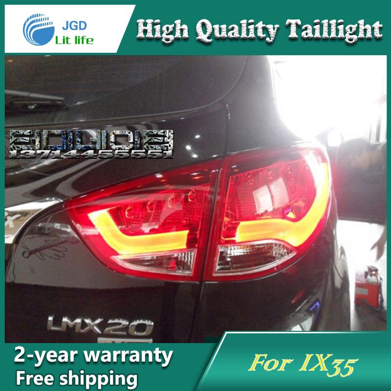 Car LED Tail Light Parking Brake Rear Bumper Reflector Lamp for Hyundai ix35 2010-2013 Red Fog Stop Lights Car styling