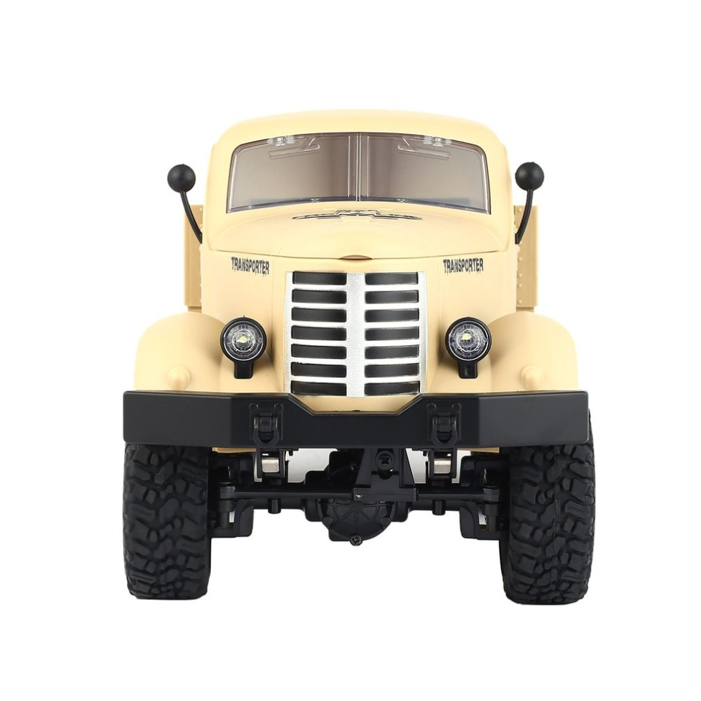 Christmas JJR/C Q60 1/16 2.4G 6WD RC Off-Road Military Truck Transporter RC Car Remote Control Vehicle for Children Gift Toy