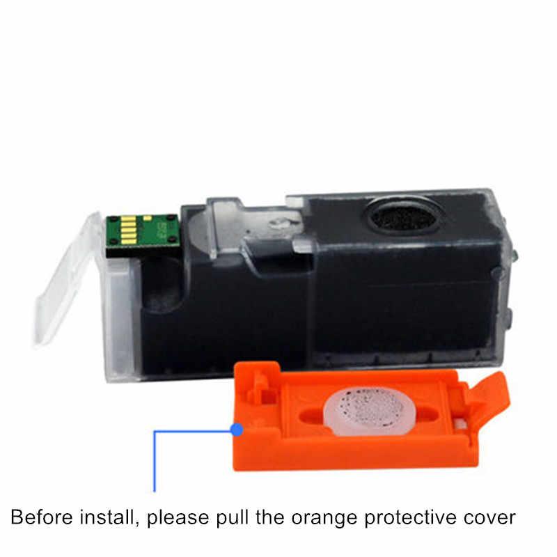 2 Pcs Tinta Cartridge CLI 551 Hitam dan Abu-abu Kompatibel untuk Canon PIXMA MG6350 MG6450 MG7150 Ip7250 MX925 Printer Inkjet