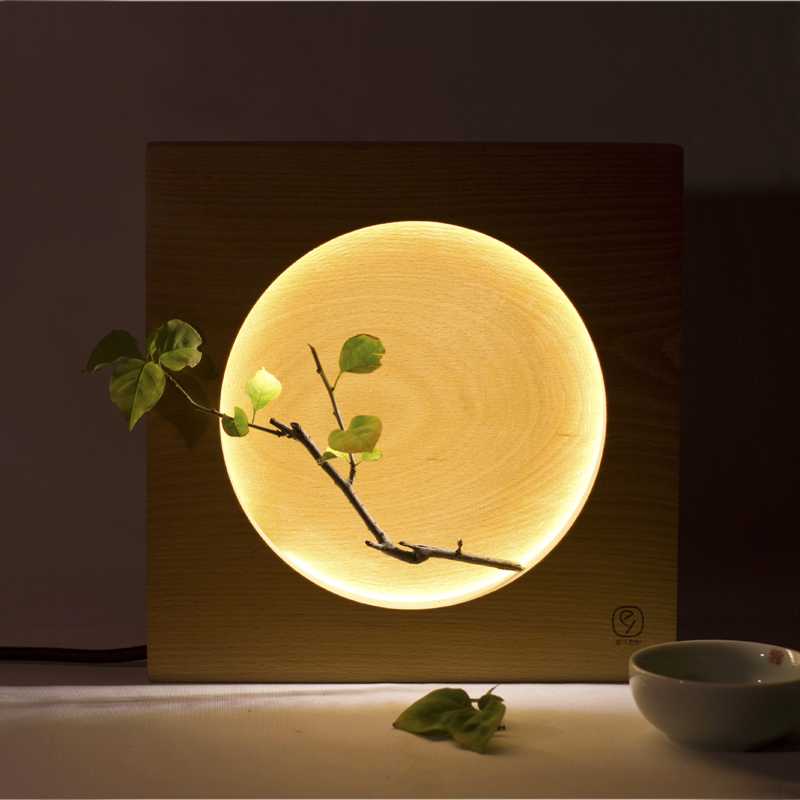 Home Modern Babylone Japanese Creative Full Moon bedside Mid Autumn Bedroom Festival gift Table Light Desk