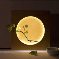 Home Modern Babylone Japanese Creative Full Moon bedside Mid Autumn Bedroom Festival gift Table Light Desk Reading Lamp Lighting