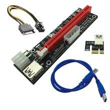 Riser Card SATA 4pin 6Pin Mining Power Supply LED USB 3.0 PCI-E 1x to 16x PCI-E Riser for Graphics Card